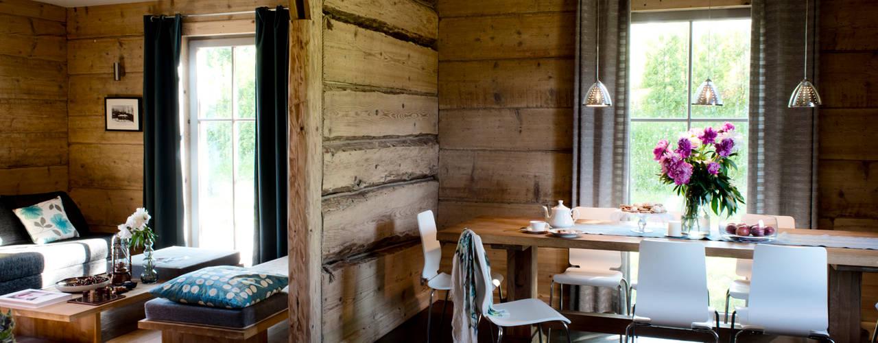 Metamorfoza domu w Bieszczadach: styl , w kategorii Jadalnia zaprojektowany przez deco chata