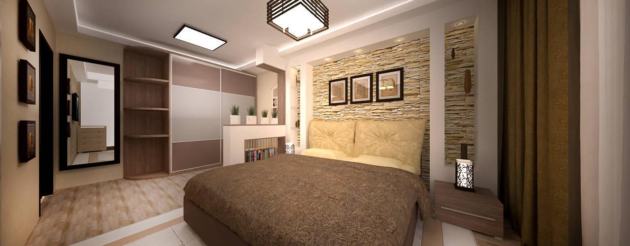 Dormitorios asiáticos de дизайн-бюро ARTTUNDRA Asiático