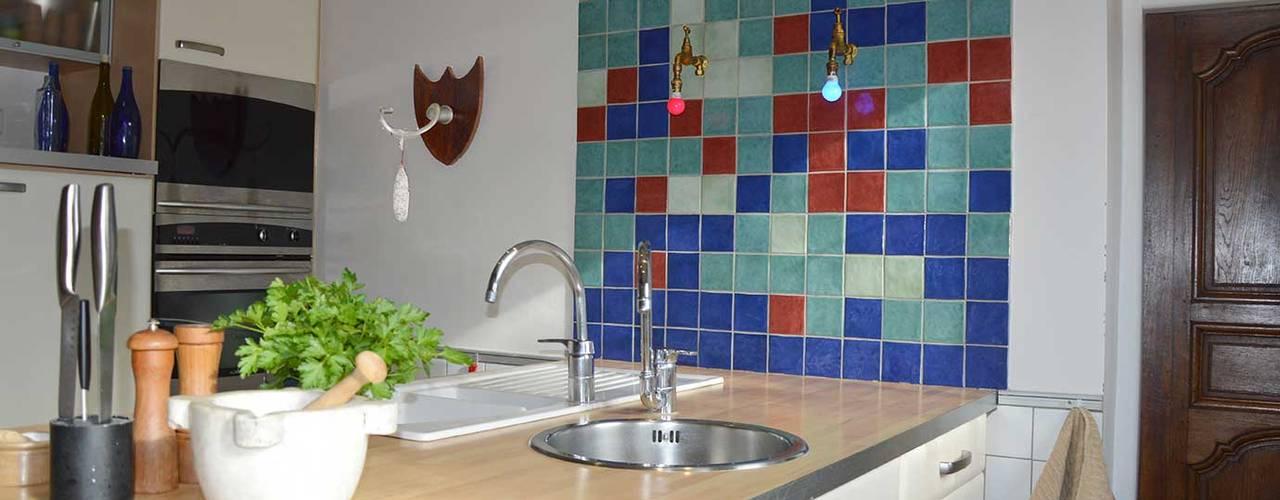 Aménagement Longère Cuisine moderne par Frédéric Poisson Architecture&Design Moderne