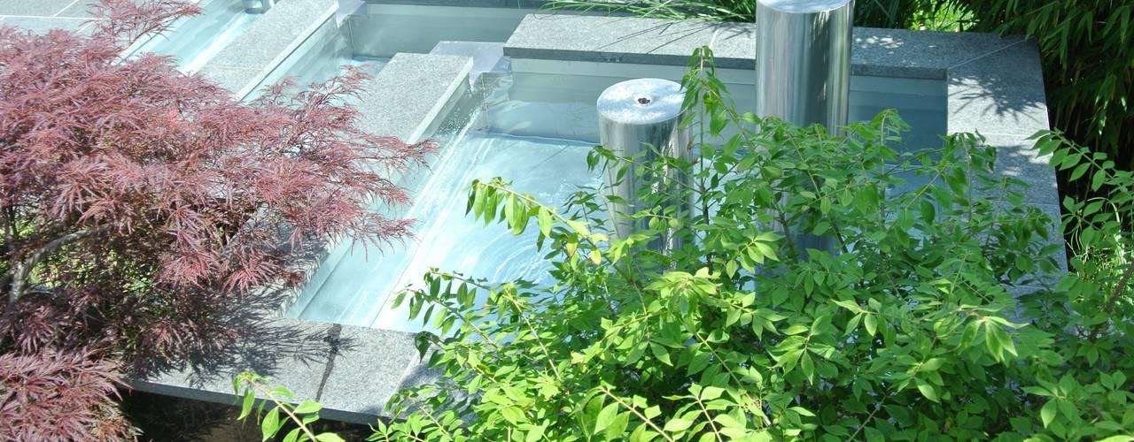 Edelstahl Teichbecken und Edelstahl- Teichwannen Moderner Garten von Edelstahl Atelier Crouse - individuelle Gartentore Modern