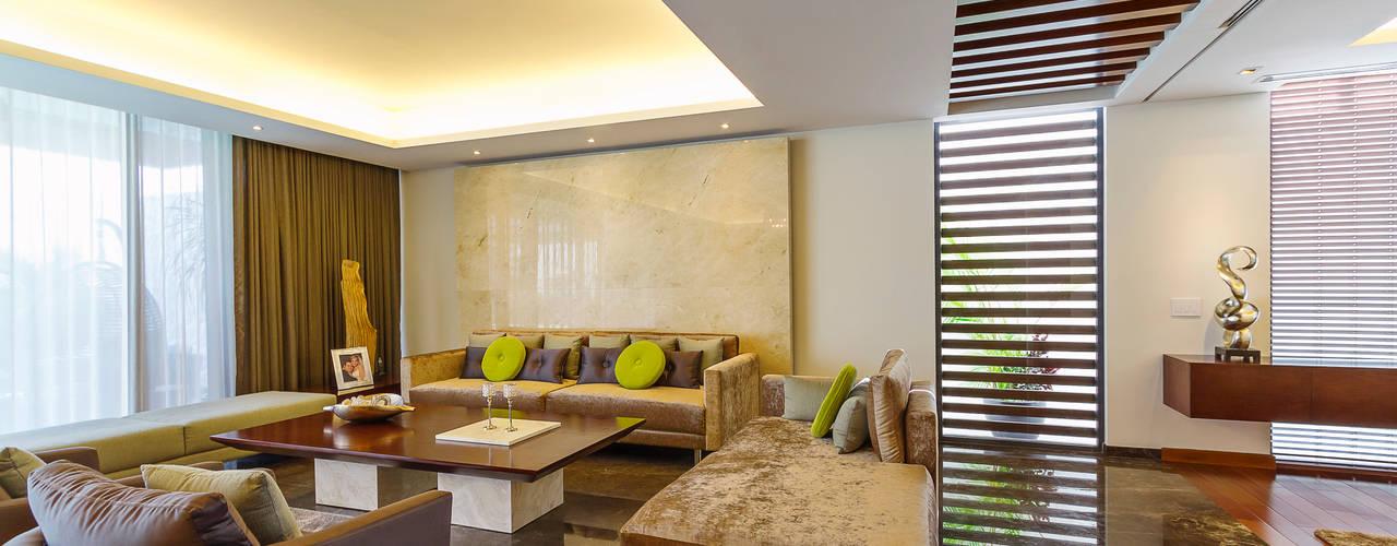 Projekty,  Salon zaprojektowane przez Enrique Cabrera Arquitecto