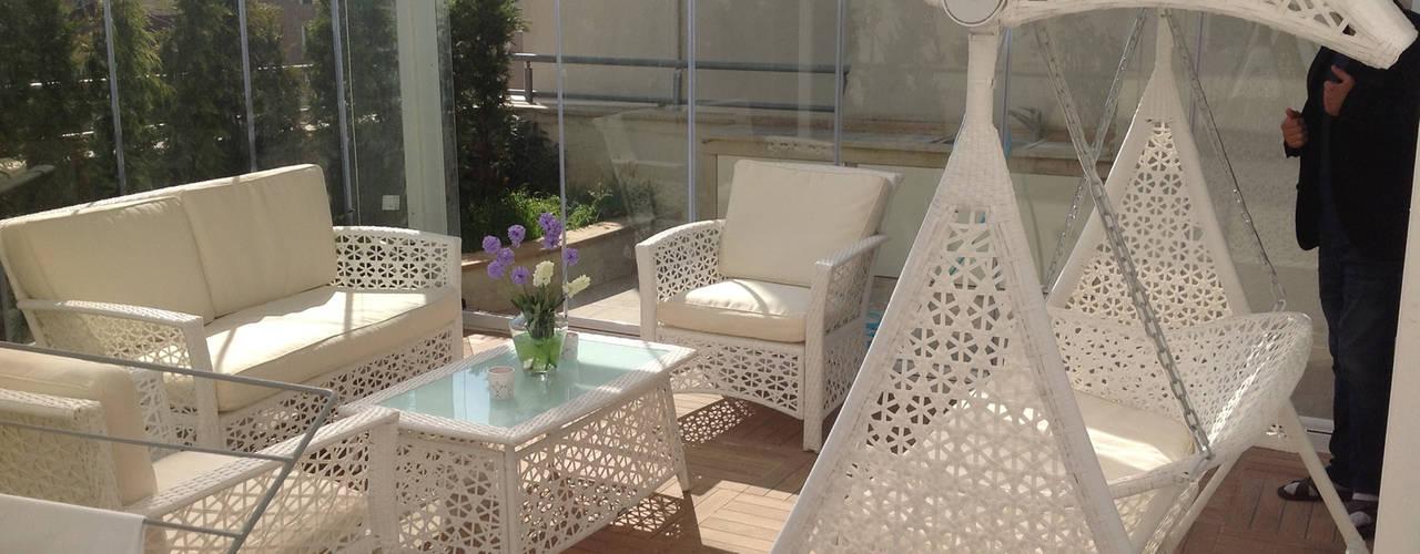 Terrace by homify, Modern