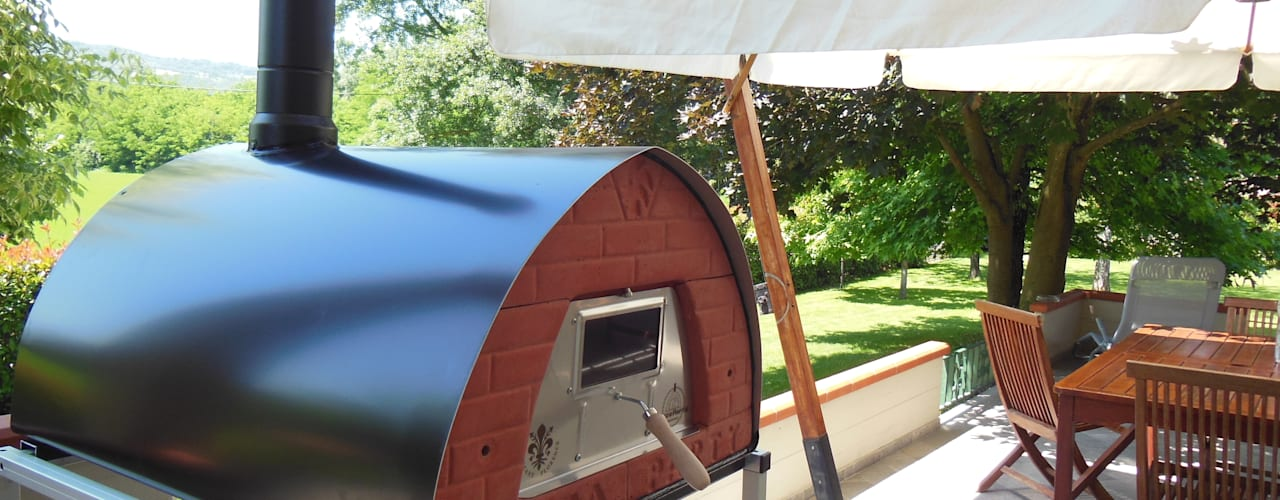 Outdoor Wood fired pizza oven Pizzone 3-4 pizzas by Pizza Party Genotema SRL Unipersonale JardínBarbacoas