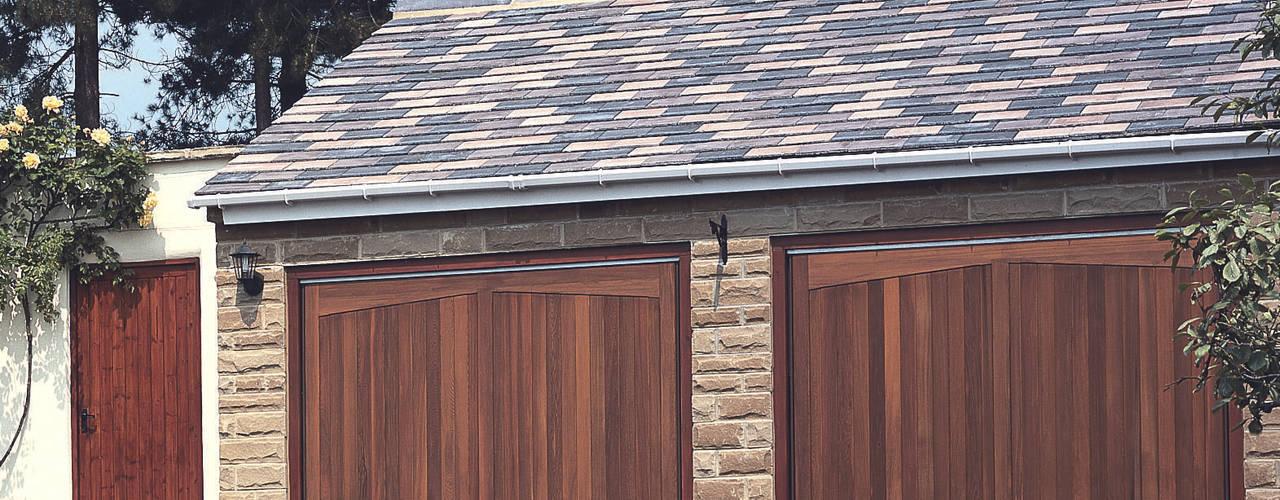 Timber Garage Doors by The Garage Door Centre Limited Рустiк