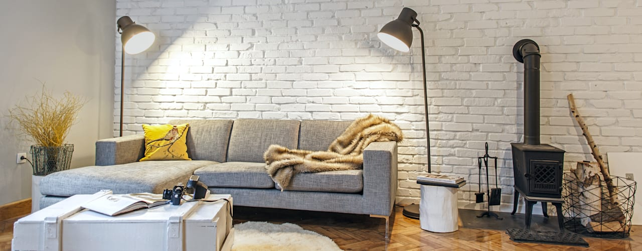 Salon - sofa: styl , w kategorii Salon zaprojektowany przez DoMilimetra