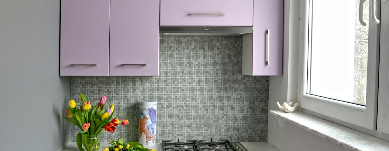 DoMilimetra Modern kitchen Purple/Violet