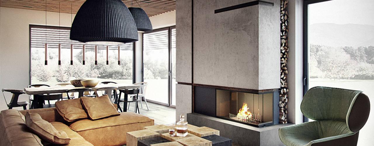 Salas de estilo  por razoo-architekci