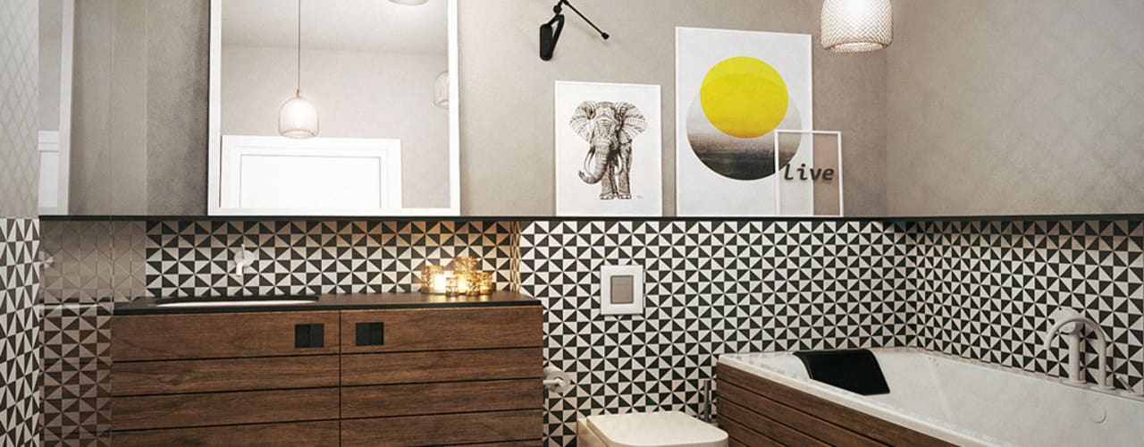 Scandinavian style bathroom by razoo-architekci Scandinavian