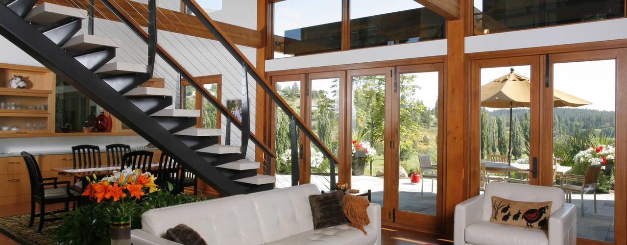 Hangman Valley Residence Nowoczesny salon od Uptic Studios Nowoczesny