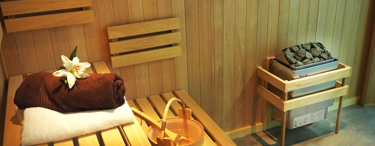 Bespoke Sauna & Steam Room for Pool Area Oceanic Saunas Modern pool