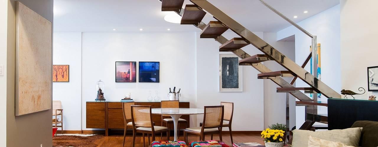 Projekty,  Jadalnia zaprojektowane przez Escritório de Arquitetura e Interiores Janete Chaoui