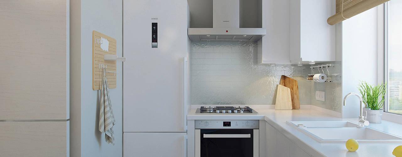 Квартира для молодой девушки: Кухни в . Автор – Ekaterina Donde Design