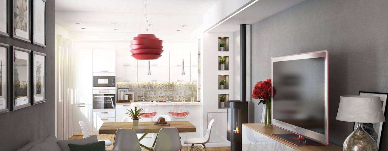 Salones de estilo  de Beniamino Faliti Architetto