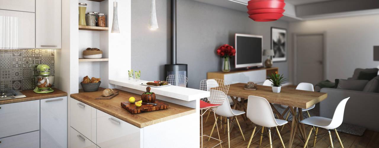 Cocinas de estilo moderno de Beniamino Faliti Architetto Moderno