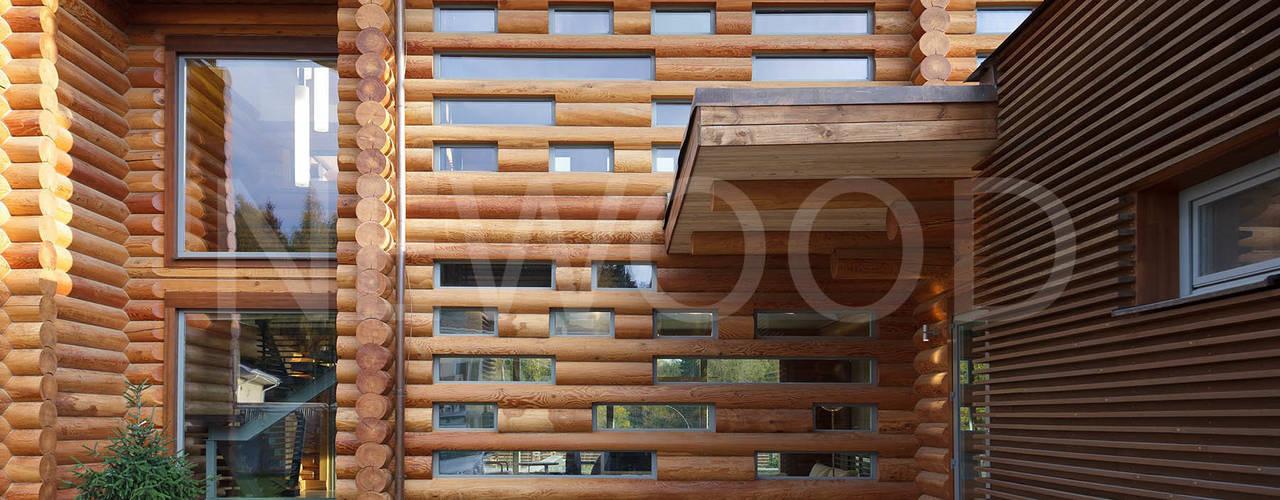 Projekty,  Domy zaprojektowane przez NEWOOD - Современные деревянные дома