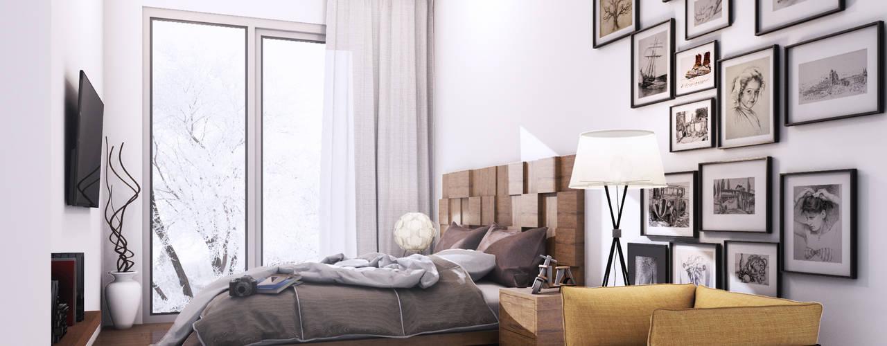 Habitaciones de estilo minimalista de 2vsarq Minimalista