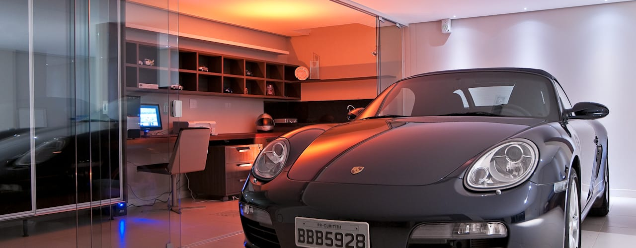 Garage/shed by JOSIANNE MADALOSSO ARQUITETURA E INTERIORES, Modern