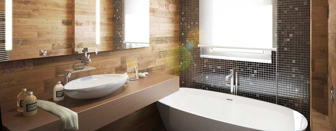 Eclectic style bathroom by Beniamino Faliti Architetto Eclectic
