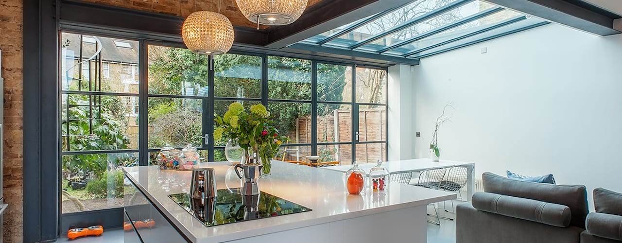 Full House Renovation with Crittall Extension, London Cocinas de estilo industrial de HollandGreen Industrial