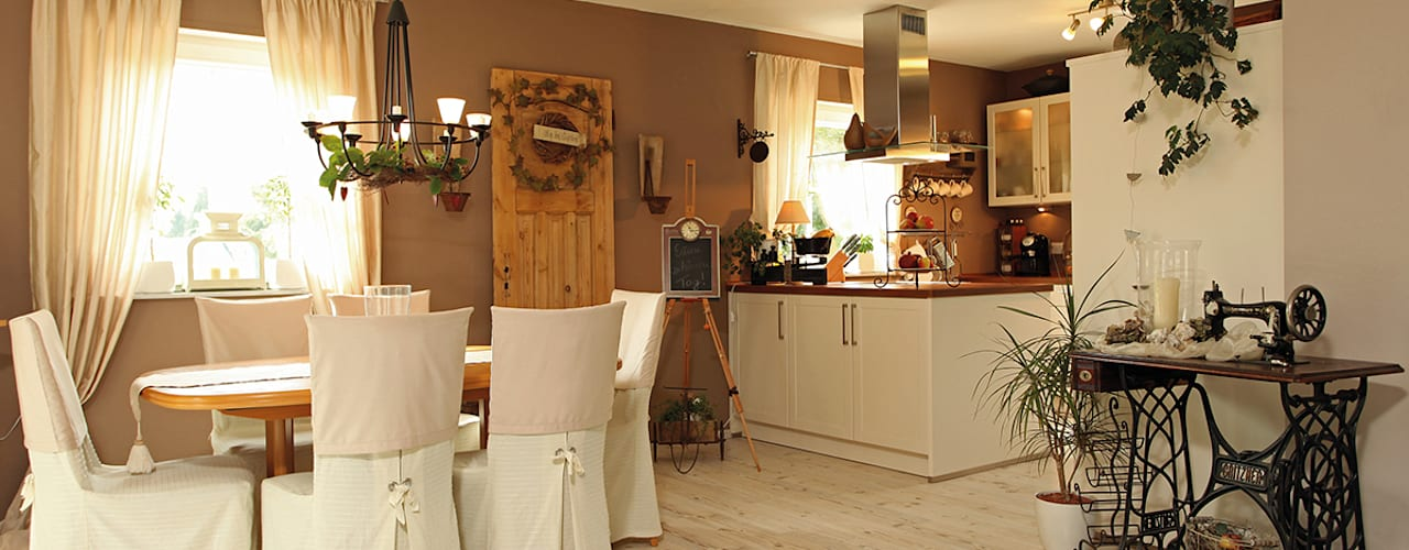 Country style dining room by homify Country