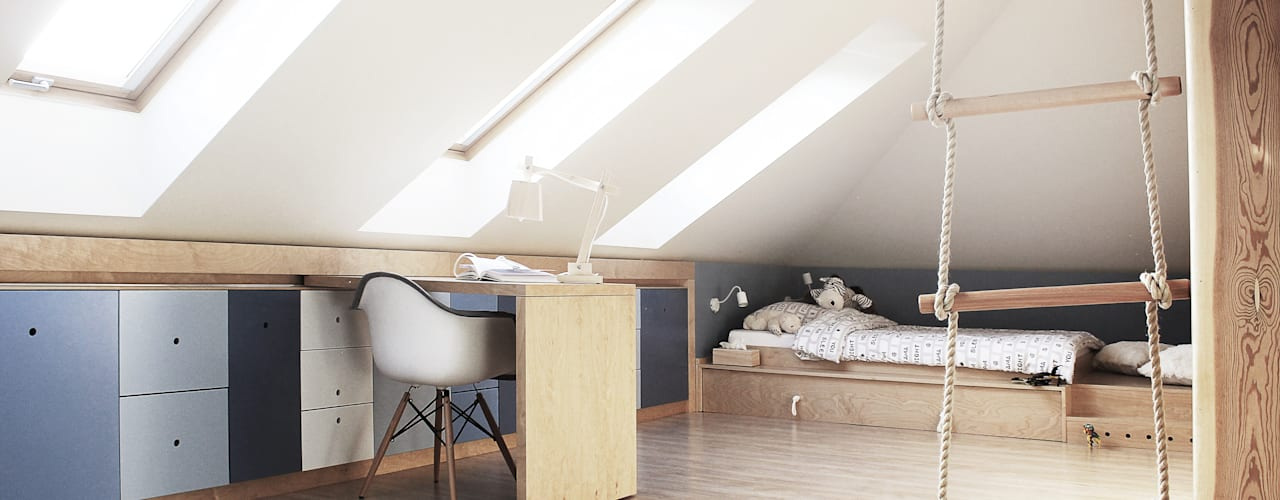ห้องนอนเด็ก โดย COI Pracownia Architektury Wnętrz, โมเดิร์น