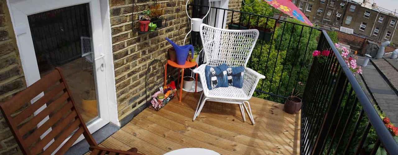 Courtauld Road Roof Terrace Modern balcony, veranda & terrace by Collective Works Modern