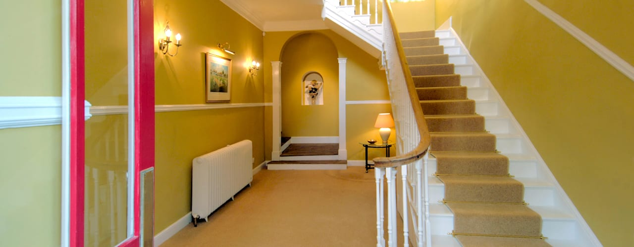 Bossington House, Adisham Kent Country style corridor, hallway& stairs by Lee Evans Partnership Country