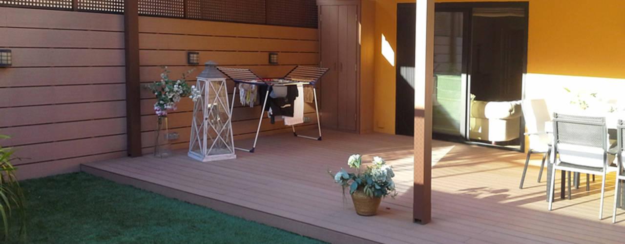 Proyecto de interiorismo de terraza Balcones y terrazas de estilo mediterráneo de Vicente Galve Studio Mediterráneo