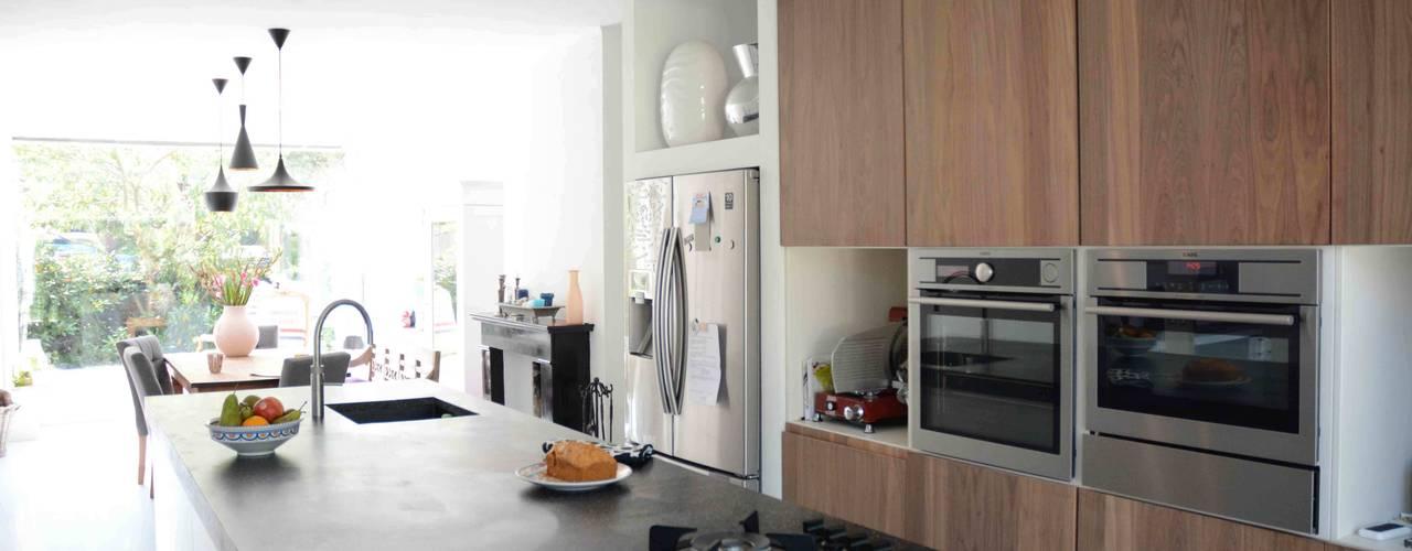 uitbreiding woonhuis Amersfoort TIEN+ architecten Moderne keukens
