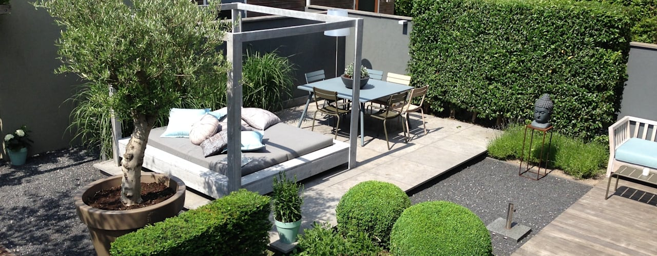 Moderne tuin Hoofddorp Moderne tuinen van Biesot Modern