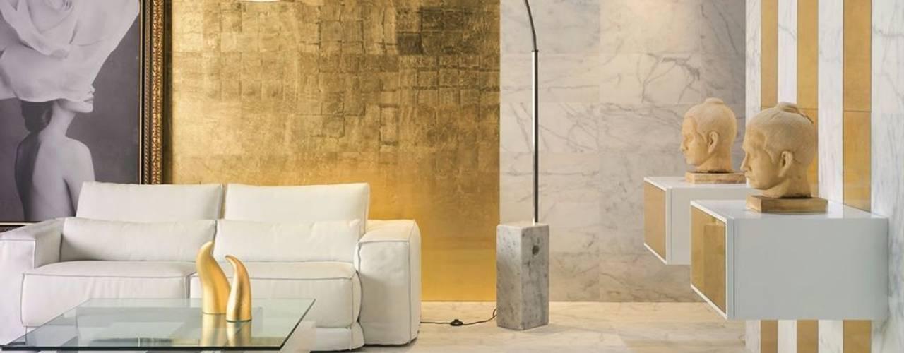 Metalizados: pan de oro, plata, bronce: Hoteles de estilo  de Barcelona Pintores.es