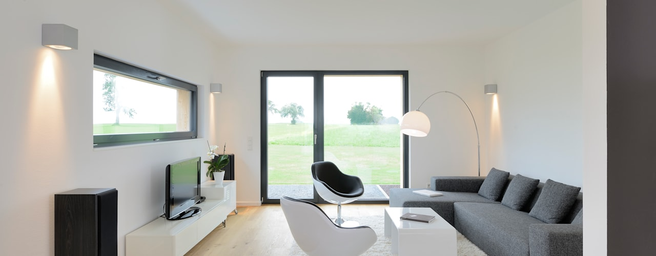 Гостиная в . Автор – Bau-Fritz GmbH & Co. KG