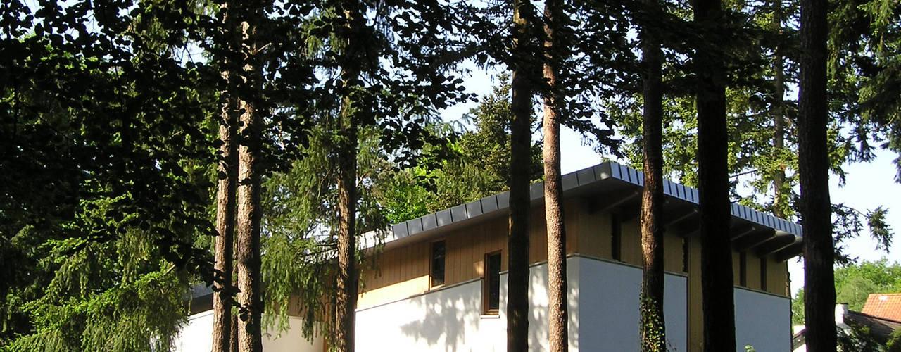 Linker zijgevel: moderne Huizen door Thijssen Verheijden Architecture & Management
