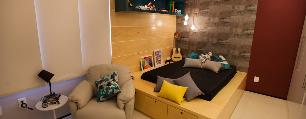 Eclectic style bedroom by Passo3 Arquitetura Eclectic