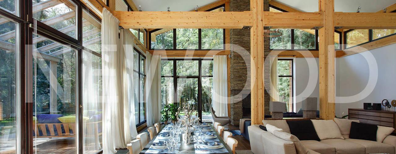 Comedores de estilo  por NEWOOD - Современные деревянные дома, Rural