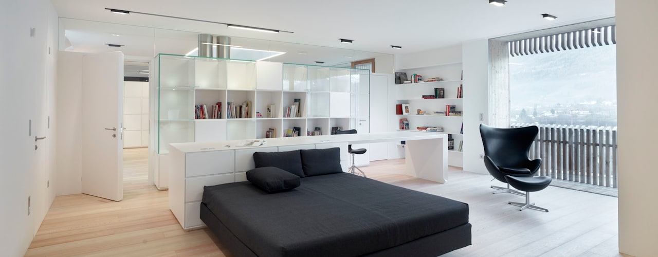 edificio unifamiliare  PF: Camera da letto in stile  di Burnazzi  Feltrin  Architects
