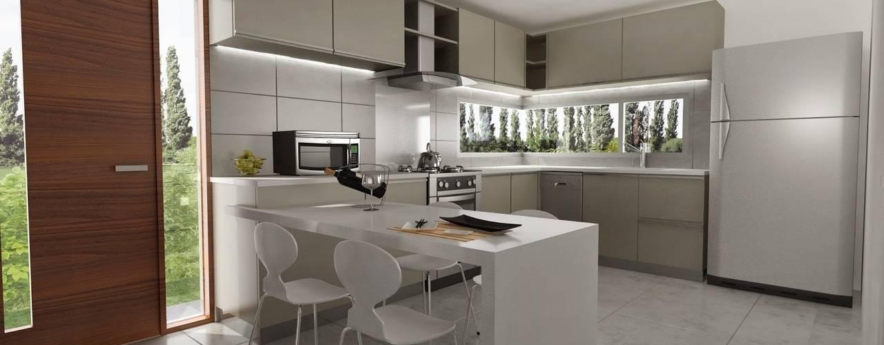 Cozinhas modernas por Chazarreta-Tohus-Almendra Moderno