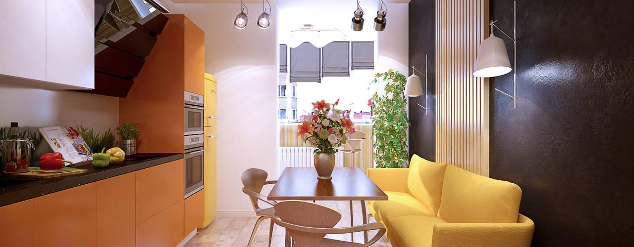 Cocinas de estilo  por Студия интерьерного дизайна happy.design