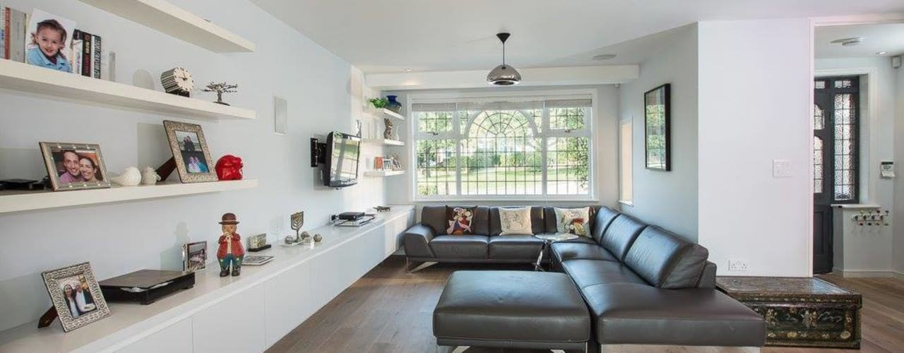 Abbots Gardens, N2 Modern living room by XUL Architecture Modern