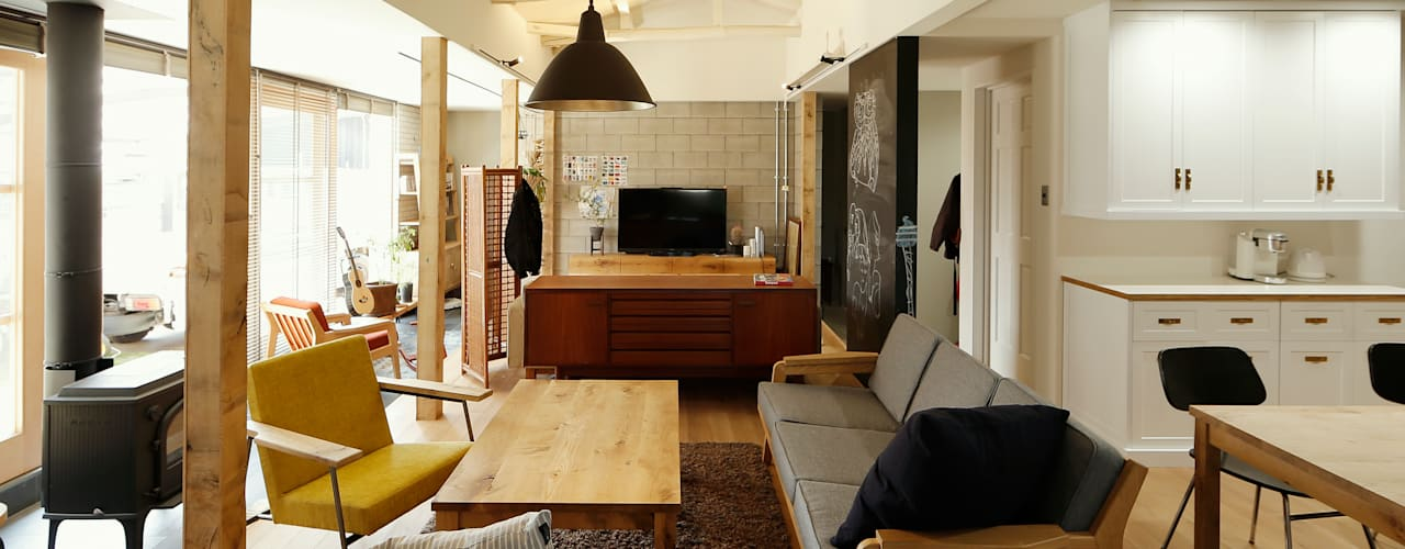 scandinavian Living room by ELD INTERIOR PRODUCTS