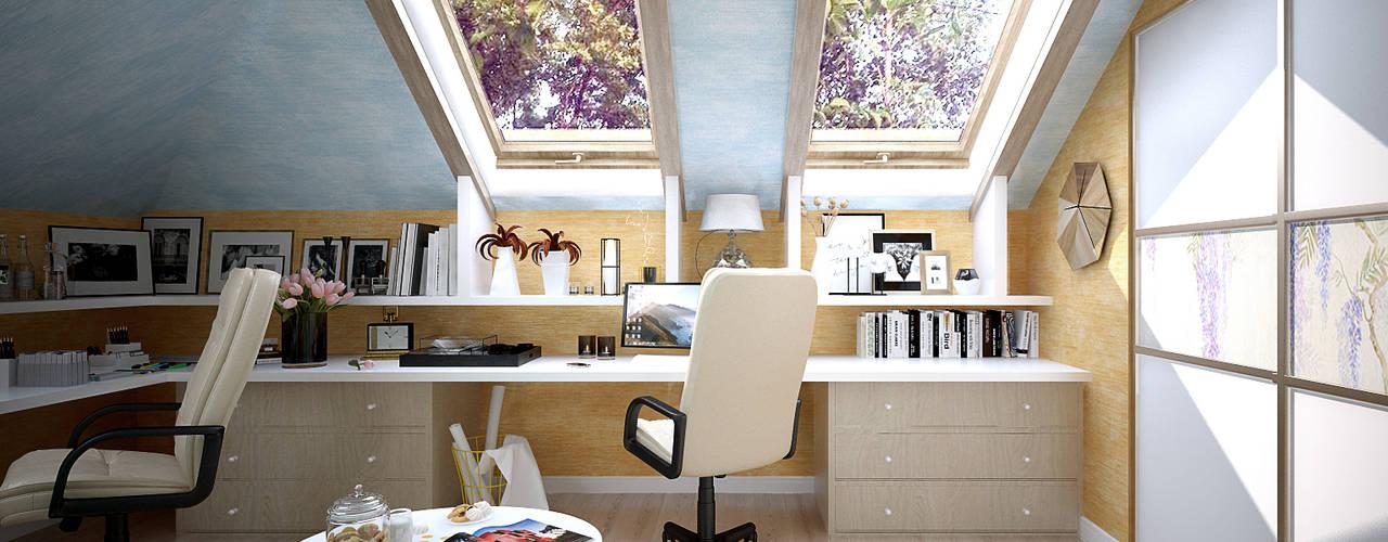 Estudios y despachos de estilo  por Студия интерьерного дизайна happy.design, Mediterráneo