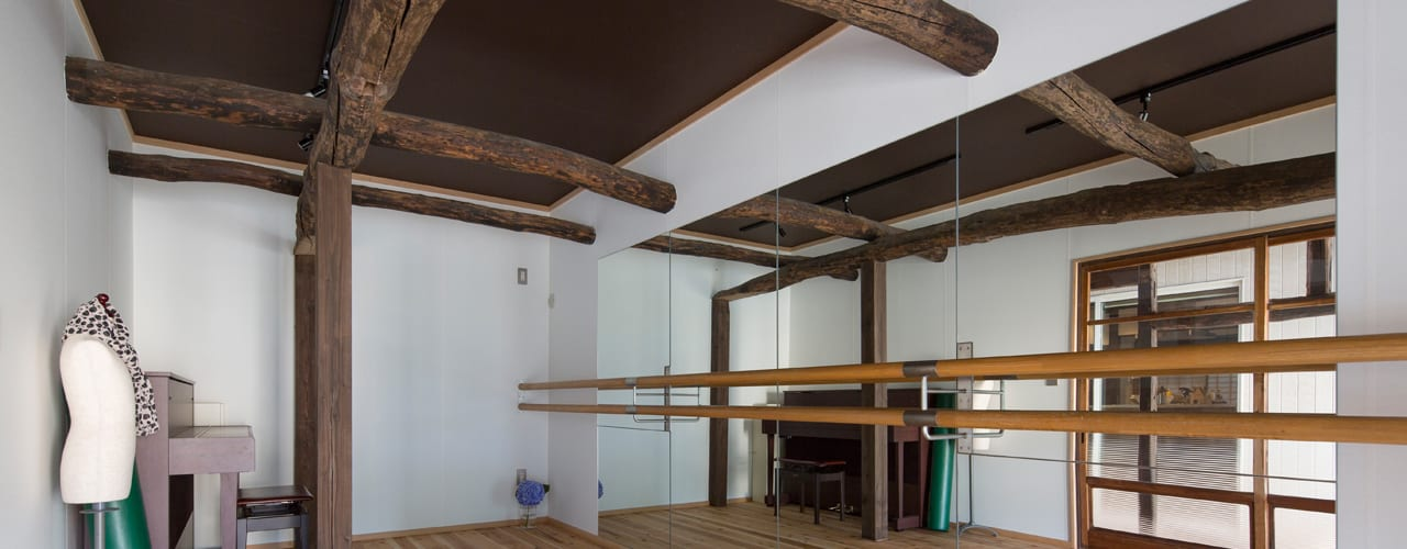 築100年の古民家再生 和風デザインの 多目的室 の 一級建築士事務所 感共ラボの森 和風