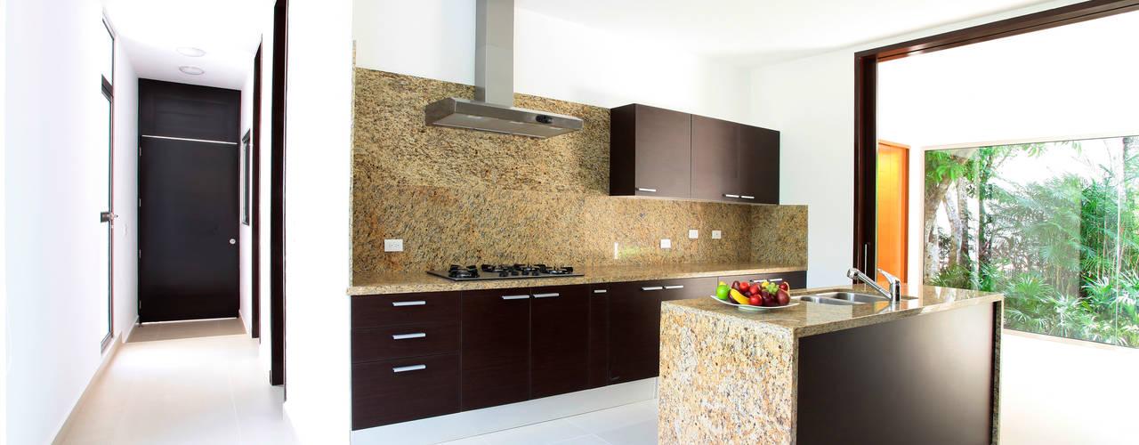 Casa entre Arboles: Cocinas de estilo moderno por Enrique Cabrera Arquitecto