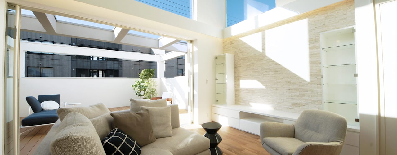 现代客厅設計點子、靈感 & 圖片 根據 TERAJIMA ARCHITECTS 現代風