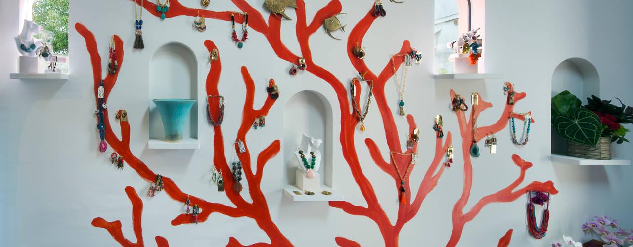 株式会社 藤本高志建築設計事務所 Eclectic style walls & floors Ceramic Red