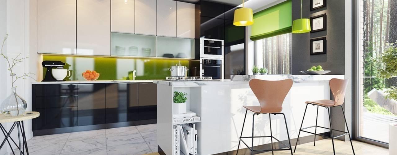 Кухня в стиле модерн от Pracownia Projektowa ARCHIPELAG Модерн