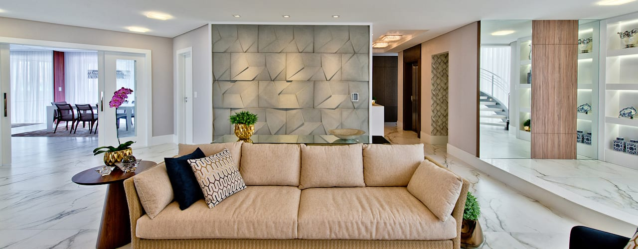 Livings de estilo moderno de Espaço do Traço arquitetura Moderno