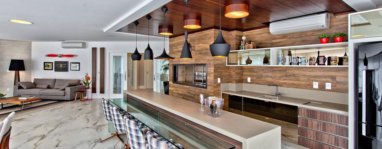 Dapur Modern Oleh Espaço do Traço arquitetura Modern