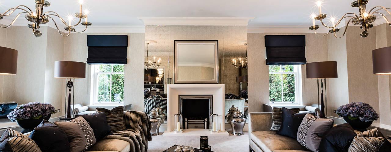 Kingswood, Surrey Luke Cartledge Photography Salas de estilo clásico