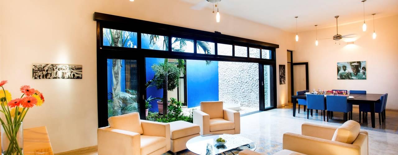 Taller Estilo Arquitectura Sala da pranzo moderna Blu